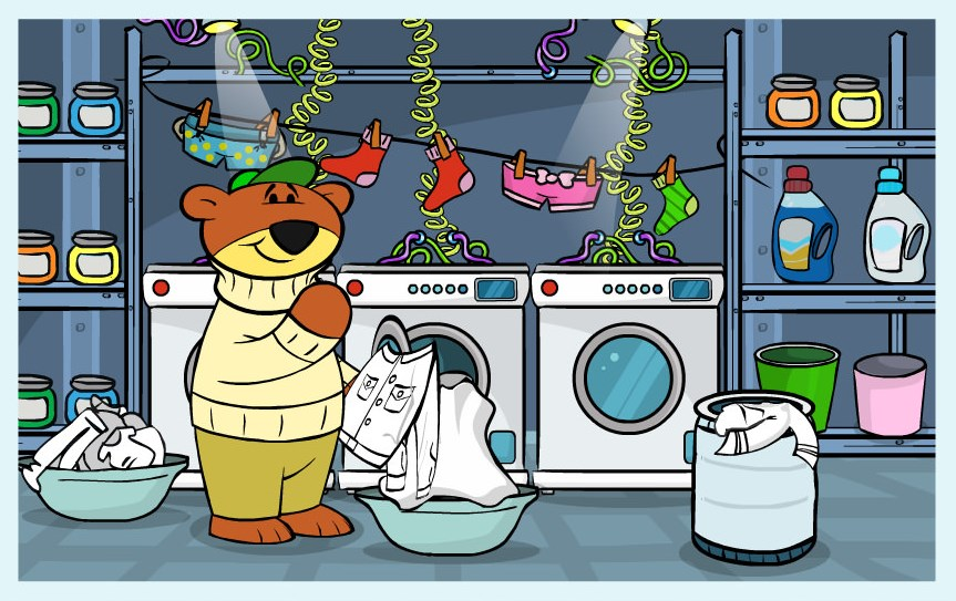 gra w robienie prania