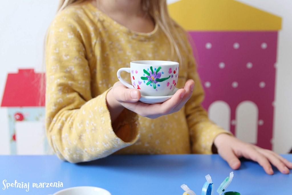 porcelana, zestaw dla dziewczynki, smyk, zerówka