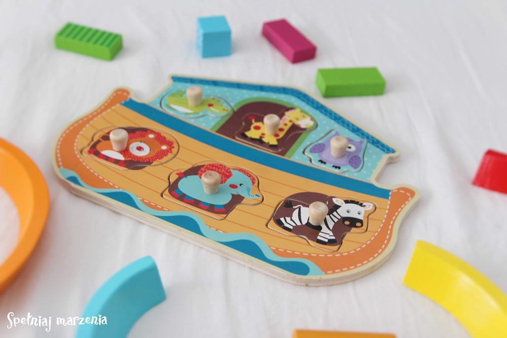 drewniane puzzle, smiki, spełniaj marzenia, smyk wilcza, zabawka, co kupić niemowlakowi