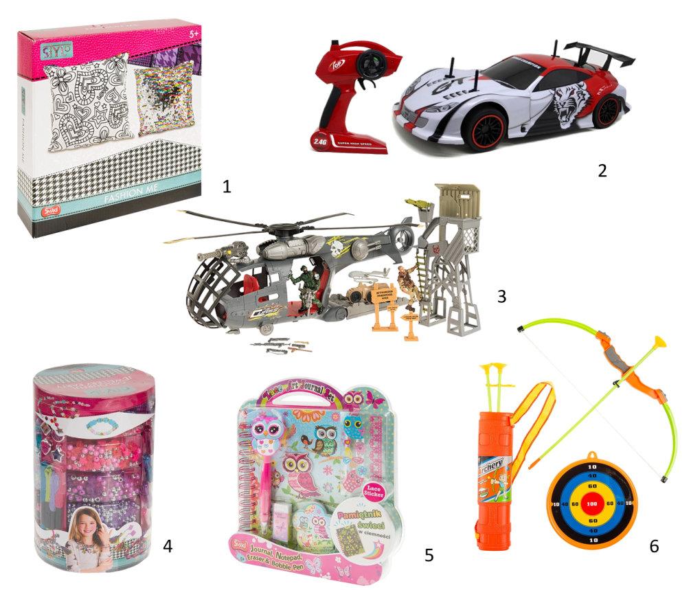 smiki, smyk, dron, dzień dziecka, co kupić dziecku, komunia, żołnierzyki, łuk dla dziecka, sterowane auto, co kupić dziecku,