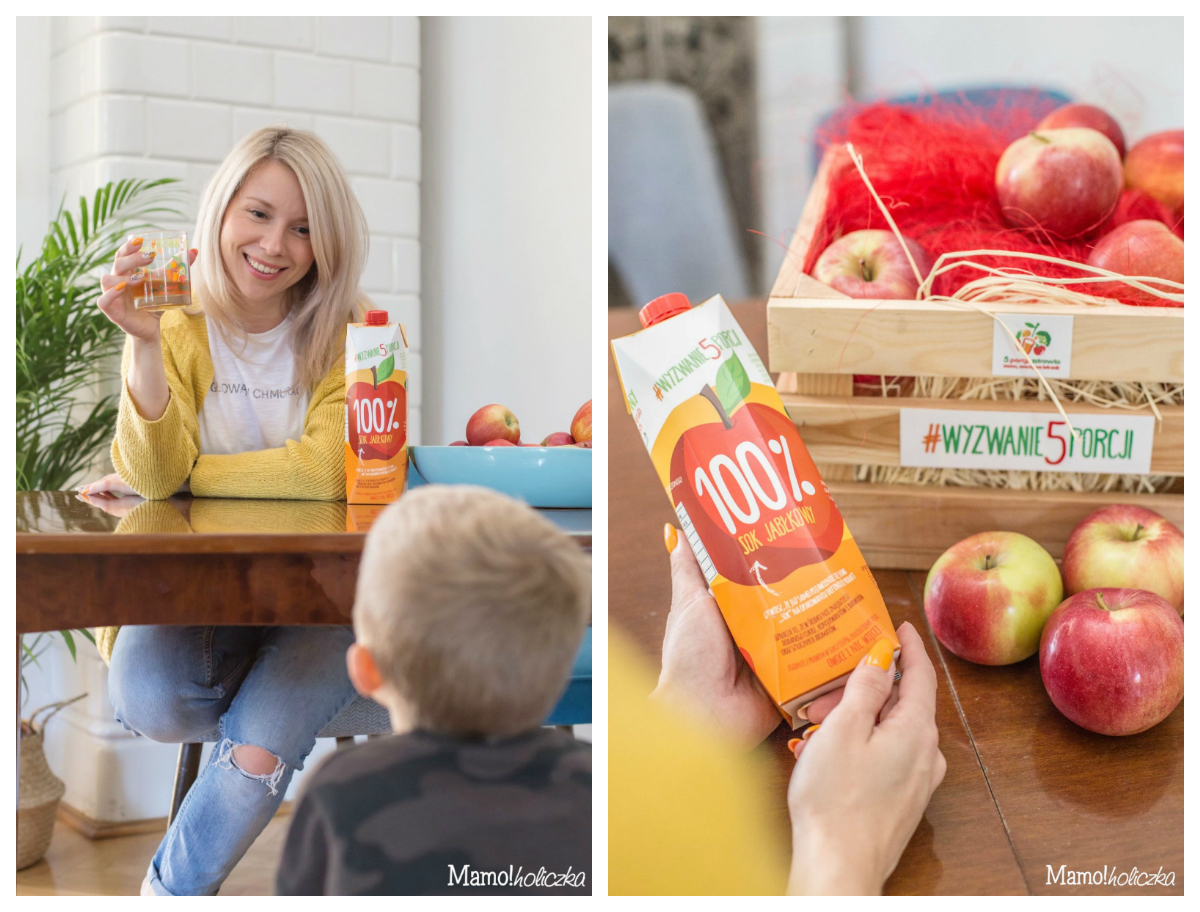 sok, owoce, sok z kartonu, zbilansowana dieta dziecka, rodzina, mama i syn, mama, matka blogerka