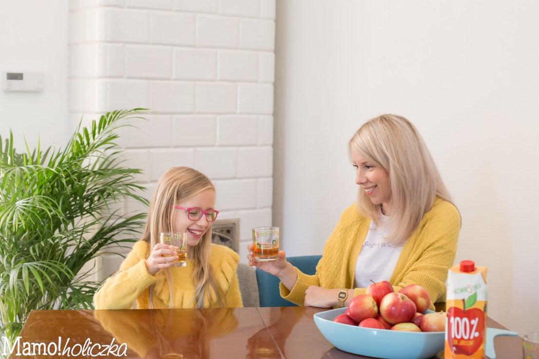 rodzinnie, czas razem, sok, piec kaflowy, zbilansowana dieta dziecka, zdrowie