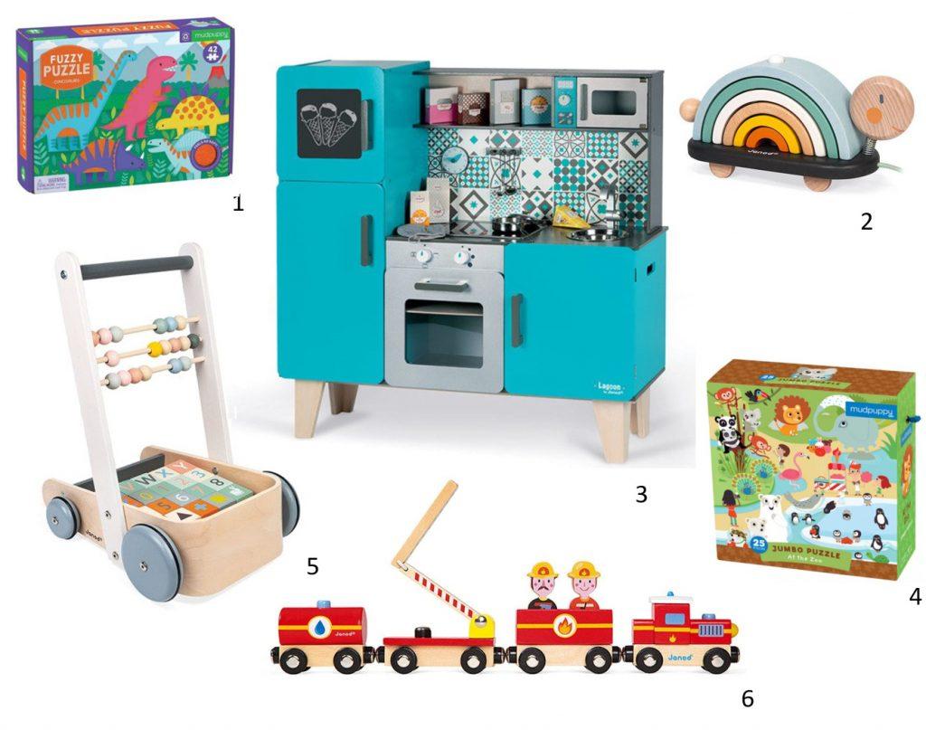 janod, mudpuppy, prezent dla dziecka, prezent pod choinkę, kuchnia drewniana, puzzle, gry i zabawy