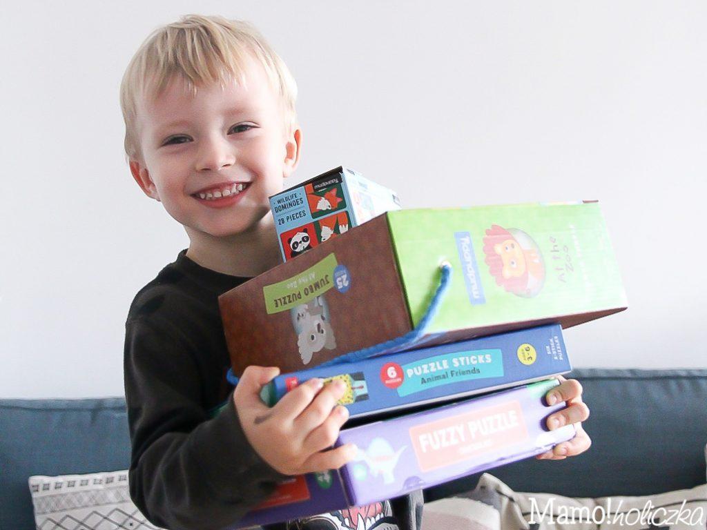 gry, puzzle, blog, blogerka, instadziecko, mudpuppy, prezent pod choinkę dla dziecka